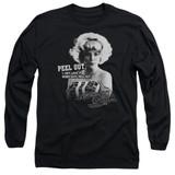American Graffiti Peel Out Adult Long Sleeve T-Shirt Black