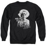 American Graffiti Peel Out Adult Crewneck Sweatshirt Black