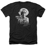 American Graffiti Peel Out Adult Heather T-Shirt Black