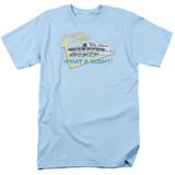 American Graffiti Mels Drive In Adult 18/1 T-Shirt Light Blue
