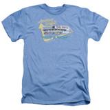 American Graffiti Mels Drive In Adult Heather T-Shirt Light Blue