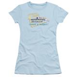 American Graffiti Mels Drive In Junior Women's Sheer T-Shirt Light Blue