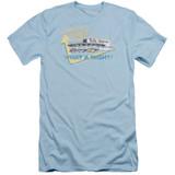 American Graffiti Mels Drive In Adult 30/1 T-Shirt Light Blue