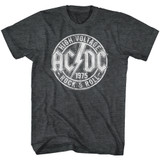 AC/DC R And R Black Heather Adult T-Shirt