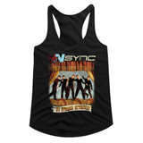 NSYNC No Strings No Words Black Junior Women's Racerback Tank Top T-Shirt