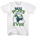 Popeye Best Pops White Adult T-Shirt