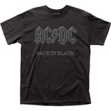 AC/DC Classic Back In Black Adult Cotton T-Shirt