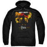 Amityville Horror Get Out Adult Pullover Hoodie Sweatshirt Black
