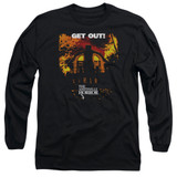 Amityville Horror Get Out Adult Long Sleeve T-Shirt Black
