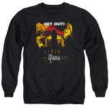 Amityville Horror Get Out Adult Crewneck Sweatshirt Black