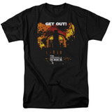Amityville Horror Get Out Adult 18/1 T-Shirt Black