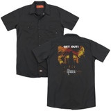 Amityville Horror Get Out (Back Print) Adult Work Shirt Black