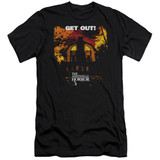 Amityville Horror Get Out Premuim Canvas Adult Slim Fit 30/1 T-Shirt Black
