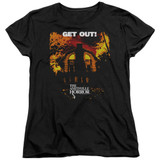 Amityville Horror Get Out Women's T-Shirt Black