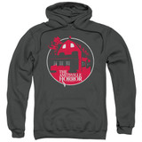 Amityville Horror Red House Adult Pullover Hoodie Sweatshirt Charcoal