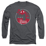Amityville Horror Red House Adult Long Sleeve T-Shirt Charcoal
