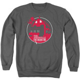 Amityville Horror Red House Adult Crewneck Sweatshirt Charcoal