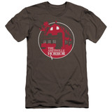 Amityville Horror Red House Premuim Canvas Adult Slim Fit 30/1 T-Shirt Charcoal