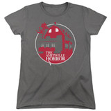 Amityville Horror Red House Women's T-Shirt Charcoal