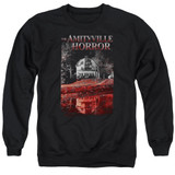 Amityville Horror Cold Blood Adult Crewneck Sweatshirt Black