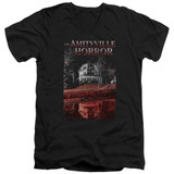 Amityville Horror Cold Blood Adult V-Neck T-Shirt Black