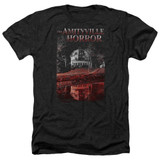 Amityville Horror Cold Blood Adult Heather T-Shirt Black