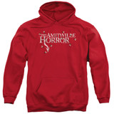 Amityville Horror Flies Adult Pullover Hoodie Sweatshirt Red