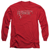 Amityville Horror Flies Adult Long Sleeve T-Shirt Red