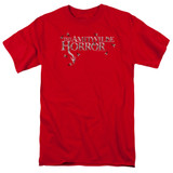 Amityville Horror Flies Adult 18/1 T-Shirt Red