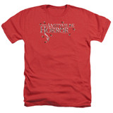 Amityville Horror Flies Adult Heather T-Shirt Red
