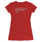 Amityville Horror Flies Junior Women's Sheer T-Shirt Red