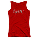 Amityville Horror Flies Junior Women's Tank Top T-Shirt Red