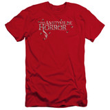Amityville Horror Flies Premuim Canvas Adult Slim Fit 30/1 T-Shirt Red
