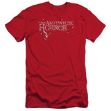 Amityville Horror Flies Adult 30/1 T-Shirt Red
