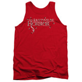 Amityville Horror Flies Adult Tank Top T-Shirt Red