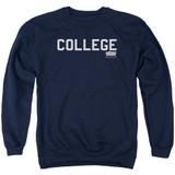 Animal House College Adult Crewneck Sweatshirt Navy