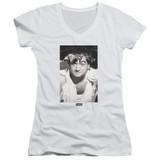 Animal House The Animal Junior Women's V-Neck T-Shirt White