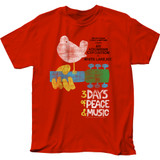 Woodstock Classic Poster Adult T-Shirt
