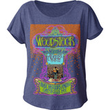 Woodstock Classic Max Yasgur's Farm Junior Women's Dolman T-Shirt