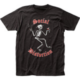 Social Distortion Skelly Logo Classic Fitted Jersey T-Shirt