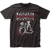 Social Distortion Ball and Chain Tour Classic Fitted Jersey T-Shirt