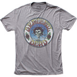 Grateful Dead Skull and Roses Distressed Fitted Tri-blend Classic T-Shirt
