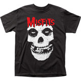 Misfits Red Logo Skull Classic Adult T-Shirt