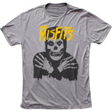 Misfits Classic Skull (Yellow logo) Classic Fitted Tri-Blend T-Shirt