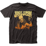 Janis Joplin Live Classic Fitted Jersey T-Shirt