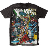 X-Men Wolverine vs Omega Big Print Subway T-Shirt