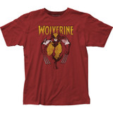 Wolverine on Red Fitted Jersey T-Shirt