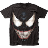 Venom Sinister Smile Fitted Jersey T-Shirt