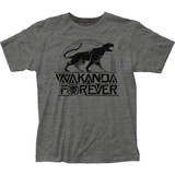 Black Panther Wakanda Forever Fitted Jersey T-Shirt