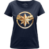Captain Marvel Badge Women's Scoop Neck Classic T-Shirt
